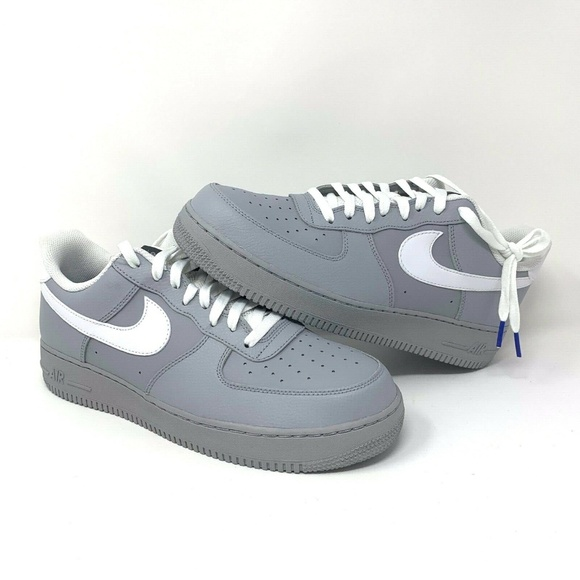 best service f3144 1d931 Men s Nike Low Air Force 1  07 Wolf Grey Gray New